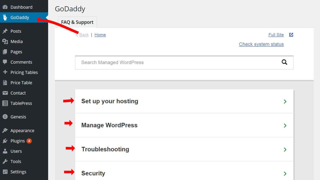 godaddy-wwordpress-faq
