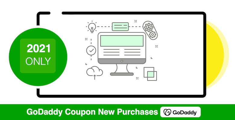 2021 new purchases coupon godaddy